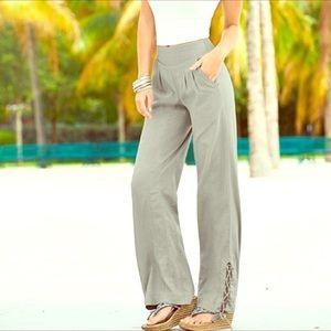 Venus Linen Blend Wide Leg Pants NWOT